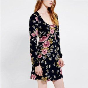 The Reformation Open-Back Babydoll Floral Dress S